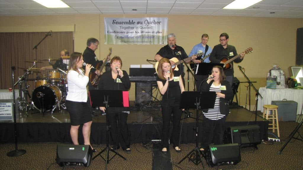 Worship during one of our conference